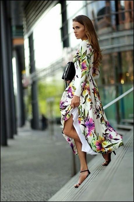 Długie Letnie Sukienki W Kwiaty