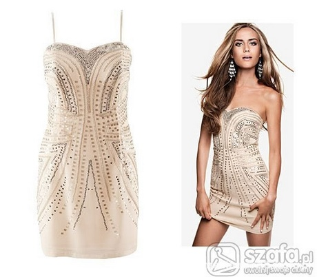 Sukienka z cekinami h&m