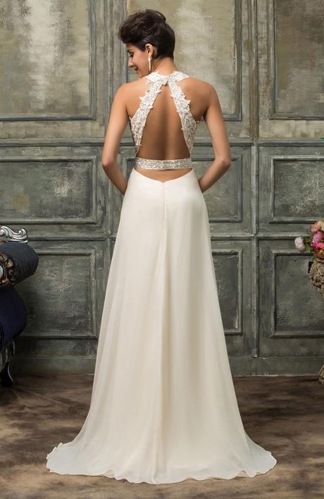 Archiwalne Pudrowa szyfonowa długa sukienka na sylwestra