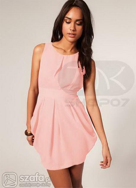 Sukienka MINI TIUL KWIATY NUDE 36 - 7445526696 - oficjalne
