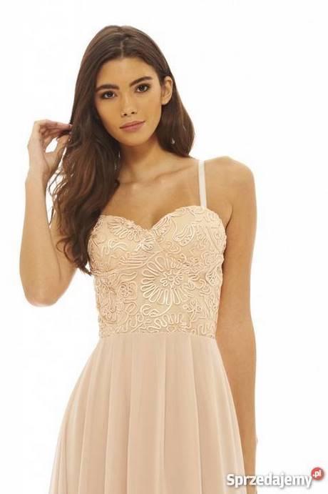 Sukienka z gorsetem na ramiączkach